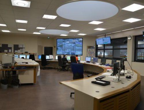 Aménagement de la salle de contrôle de l'usine de La Croix Luizet (69)