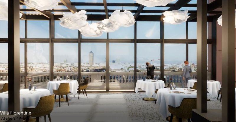 Extension Du Restaurant Les Terrasses De Lyon De La Villa